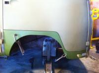 Dogleg finially welded in.