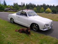 The Ghia with new roof rack