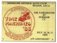 More vintage Time Machines dash plaque scans