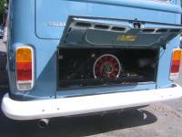porsche 911 motor in a camper bus