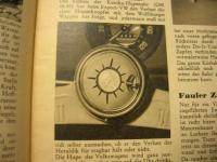 Kunika VW horn button clock - black - NOS