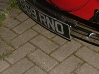 Number plate thread