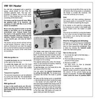 VW Thing Gas Heater Instructions