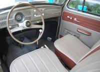 1958 Beetle Interior - Red/Grey