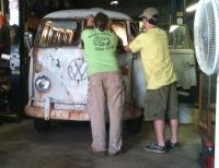 The Missouri Westy getting a few finishing touches