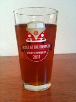 Buses At The Brewery Pint Glass