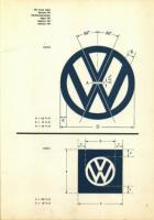 geometry of the VW logo