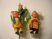 bavarian dolls car flower vases