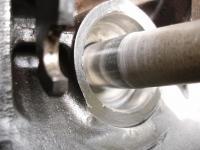 Machined input shaft after polishing