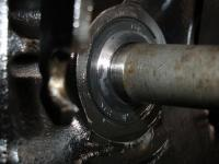 Machined input shaft resulting in leaky seal
