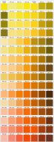 Pantone Yellow and Orange Swatches