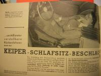 Keiper Camping Seats, Recliner, Bug, Rare Accessory