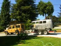 defender 110 and splitty