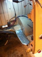Some metalwork on the barndoor