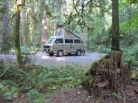 campsite on Vancouver Island, BC