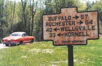 Old highway sign