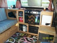 Custom vanagon camping interior