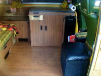 wood floor and subwooder jumpseat installed