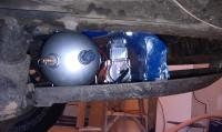 Viair compressor in the clamshell
