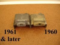 1960 Beetle door handle parts comparison