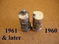 1960 Beetle door handle parts cylinder comparison
