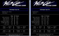 Web Cam stock vs. 73 grind