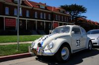 Herbie the Love Bug at the Disney Museum.