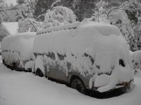 shasta bus finally haas snow on it