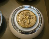 NOS St. Christopher Horn Button