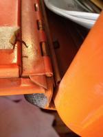 Glove box door hinge detail