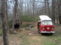 "Camping in my 70 bus ""clifford"""