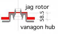 vanagon hub and jaguar rotor