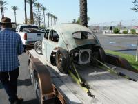 Oval-Window Beetle project on trailer