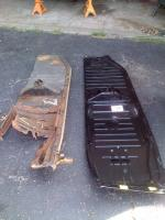 Floor Pan before and after