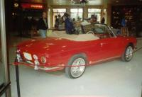Ruby Red 1965 Karmann Ghia type 34 Cabriolet at the II Encuentro Vintage Centro Chia 2003