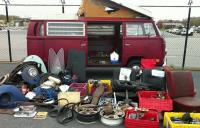 My 71 westy selling stuff at New England Dustoff