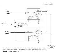 Simple rear TS/Stop circuit