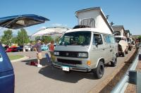 Volkswagens on the Green:  The Vanagons