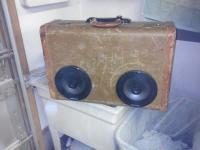 Vintage Suitcase portable stereo
