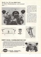 Empi catalog ad for dual carburetor kit