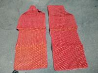 red and white coco mats