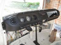 Partially completed dash