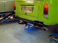"restored ""HJS"" trailer hitch @ 77 westy"