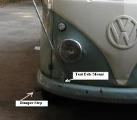 1959 SO-23 Front Bumper Tent Support and Step