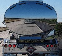 front of van reflection