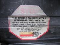 K&N Air Filter Sticker