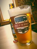 Buses at the brewery 2012 Pint Glass