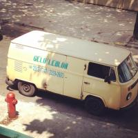 Ice delivery truck in Brazil