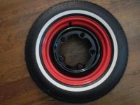 Two tone Type 3 wheel and Coker tire