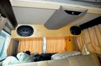 Custom weekender interior and hatch hinge/struts